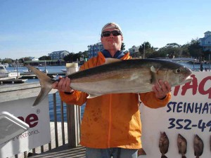 While getting a great mixed bag of fish, Jason Boan came up with this fine amberjack