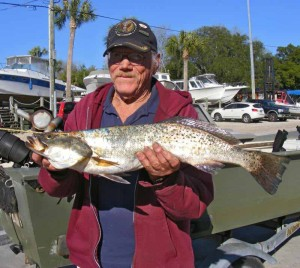 Speaking of gator trout, Ray Blackshire caught this 6 pounder in a small creek