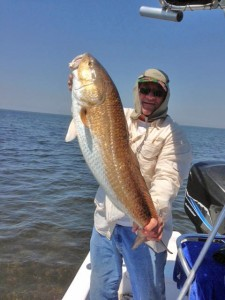 Terry Castleberry found this 40 inch redfish near Rocky Creek