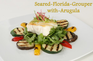 Seared-Florida-Grouper-with-Arugula