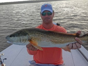 Noah Brindise caught this just oversize redfish with me during the Doug Johnson tournament
