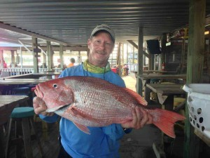 Jay Peacock caught this fine red snapper during a club tournament