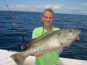 Chaeii Norwood and a fine gag grouper on opening day of gag season.