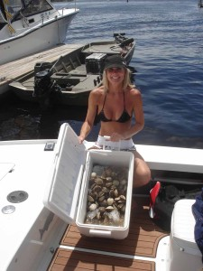 Cindy Klimek from Merritt Island with one day's haul.