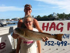 Colleen and Cason Jolly found this excellent redfish.