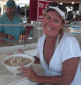 Anni Bohley from Bonita Springs with some yummy limits at the table.