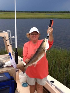 Diane Watson, from Ocala, found this beautiful red near Rock Point.