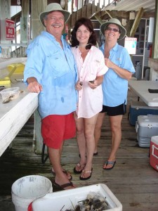 Bill, Aine and Judy from Tallahassee with their cooler of tasty treats.