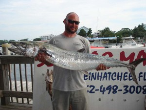 Tommy from Perry brought in this 47 pound smoker kingfish.