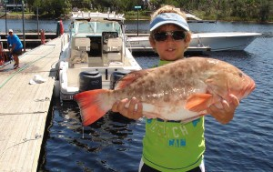 Ty Jackson was fishing a threadfin herring when he nailed this excellent red grouper.