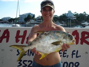 Brittany McCollum caught this tasty pompano using a Gulp bait.