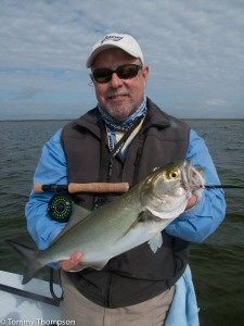 We ran into acres of bluefish, which were a blast on fly.