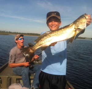 Junior Captain Chase Norwood found this gator trout trolling a Mirrolure in the Steinhatchee River.