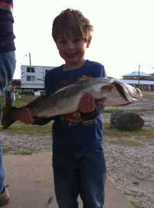 River Griffen from Georgia caught this fat trout fishing with his grandparents out of the Sea Hag Keaton Beach Marina.
