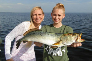 The real Sea Hag, Danielle Norwood, was given a Mother's Day trip by her family, and daughter Chaeli found this beautiful gator trout.