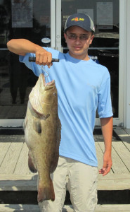 Eli Curl with a gag grouper taken in state waters at the Steinhatchee Reef.