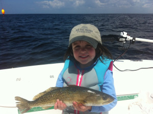 Ellie Chupp from Eatonton, Ga. caught this nice trout fishing with a live shrimp.