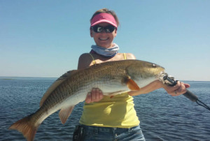 Kristin Griffis from Alachua caught this overslot redfish fishing with husband Toby.