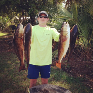 Matt Mitchell and brother Brian from Valdosta found these excellent keeper redfish fishing out of the Sea Hag Marina at Keaton Beach.