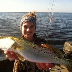 Sister Chaeli Norwood with an excellent trout taken on the same trip.