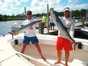 Jack Hiffenger and Mike Chavez with some beautiful kingfish taken during the Reeling for Kids tournament.