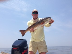 Mark McKinney with a 6.9 pound redfish caught during the P&J Tournament.