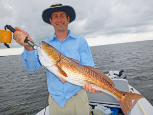 On day 2 I fished with Mike Moser who caught this overslot redfish south of the river.