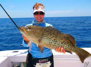 Capt. Leiza Fitzgerald had to release this beautiful gag grouper last month….but this month it's in the cooler for sure.