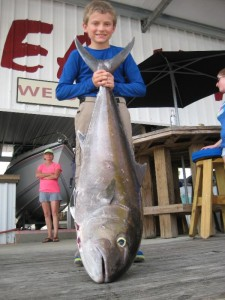 Michael Presley and a 50 pound amberjack taken at the end of last month.