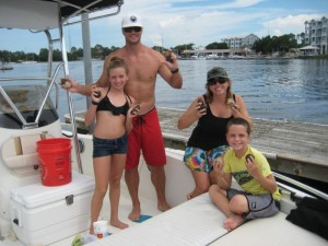 The Stewarts from Ormond Beach had a great time scalloping.