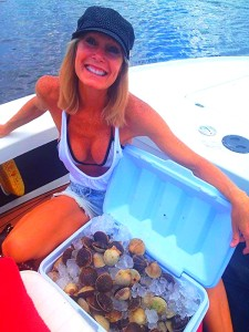 Cindy Klimek from Merritt Island found this scallop limit near the beginning of the month.