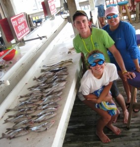 The Lawson family from Clermont got plenty of fine eating Florida snapper.