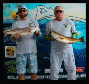 Ron and Russ Poppel finished first in the Sea Tow Elite Redfish tournament at the Sea Hag Marina.