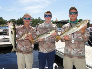 Fishing the same tournament earlier this month, Bradley and Collin English and Cody Clark found these nice trout, bluefish and sheepshead.