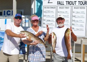 Jeff Evans, Cornella Silveira and Hadson Carter caught these redfish during the Taylor County Tournament, with Jeff taking first place.