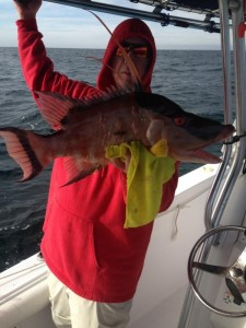 James Simpson with a fine hog snapper heading for the dinner table.