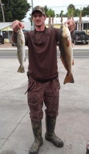 Brandon Weaver from Valdosta caught this nice trout/redfish combo.