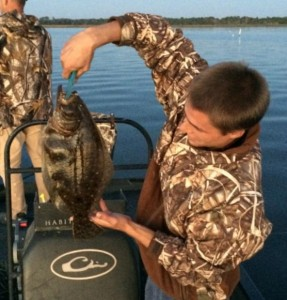 And here's Justin with something he could keep…a fine inshore flounder.