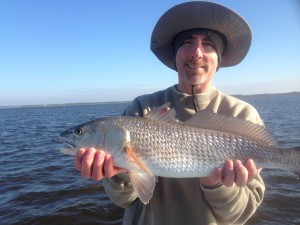 Neal Stinson from Winston-Salem, NC fished with me and found this nice redfish.