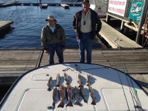 Ron and Jack with some fine redfish and trout caught with one of our guides.