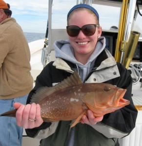 Mary Katherine Tyler brought home this nice red grouper courtesy of Capt. Wiley Horton.