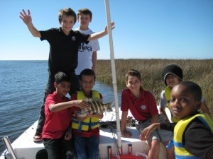 Honor middle school students from the Rock School in Gainesville had great fun participating in a scavenger hunt sponsored by the Sea Hag Marina.