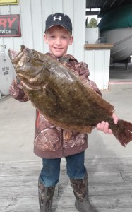 "This beautiful doormat flounder is almost as big as ""Tatebug"" Sirmans!"
