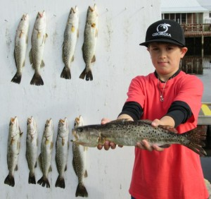 Wade Wilson from Georgia fished out of Keaton Beach with his family and got some nice trout limits.