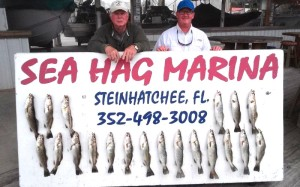Billy Bice and Bobby Burgess, fishing with another friend, came up with these beautiful trout.