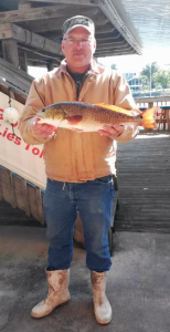 David Chapman with the winning fish in the Lots of Spots tournament.