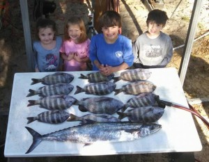 The Austin and Moody families love sheepshead and kingfish.