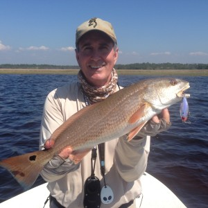 I had an amazing redfish day with Doug Barrett- 17 redfish between 23 and 28 inches in an hour. School is fun.