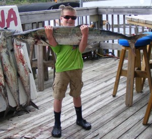 This month the big kingfish arrived, which turned out great for Colton Connor!