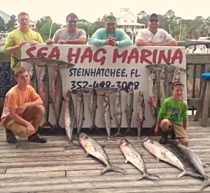 The rest of the Connor family, from Macclenny, with their great catch.